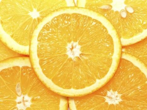 Orangen Pulver